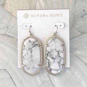 Kendra Scott White Howlite Danielle earrings